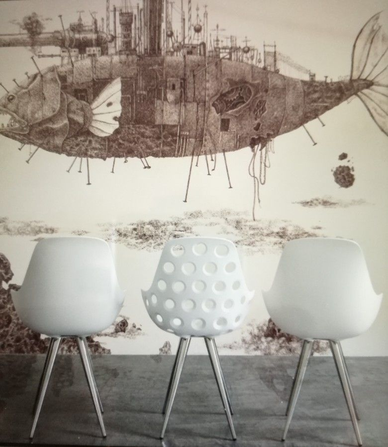 Carr shells with comfortable seat smaller bigger all people in the world by Elizabeth and marcel ronda Maastricht