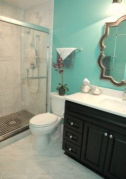 Pin By Carmen Vazquez On Unique Decor Ideas Turquoise Bathroom Bathroom Redecorating Brown Bathroom Decor