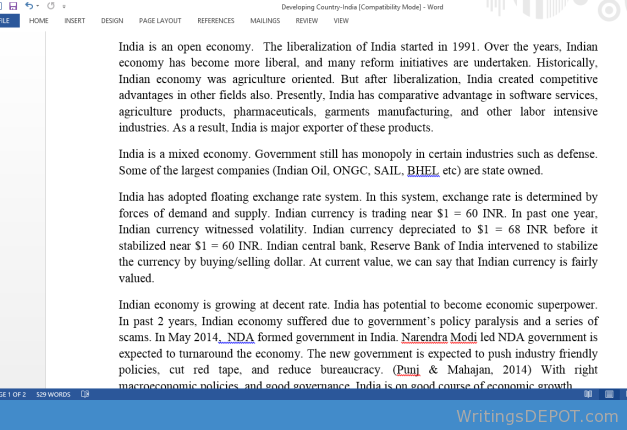 Developing Country India Comparative Advantage Essay Contest Indian Economy