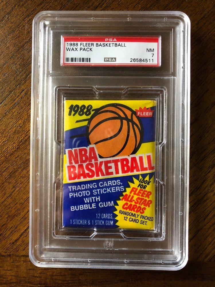 198889 fleer basketball unopened wax pack psa 7 nm