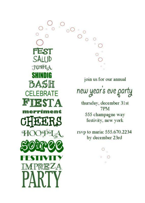 Wine or Champagne Party Invitation