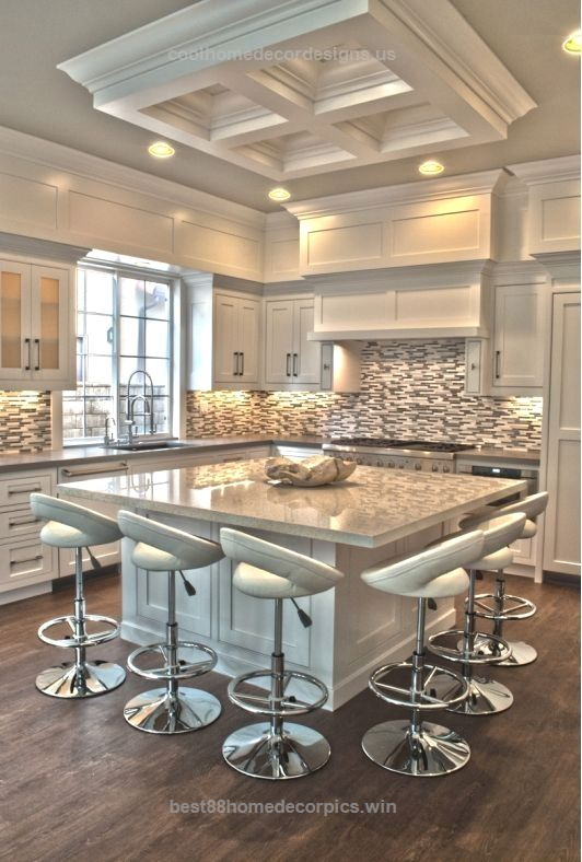 30 Floor Designs That Lay A World Of Possibilities At Your: 30 Spectacular White Kitchens With Dark Wood Floors