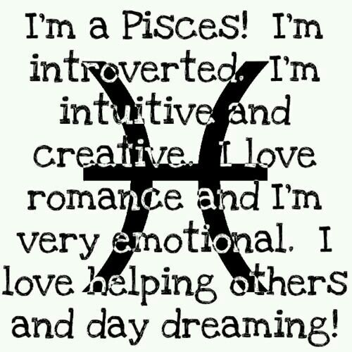 I'm everything but introverted   Zodiac   Pisces, Pisces
