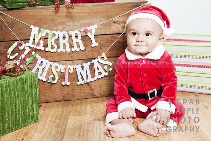 Baby Christmas Portrait Idea