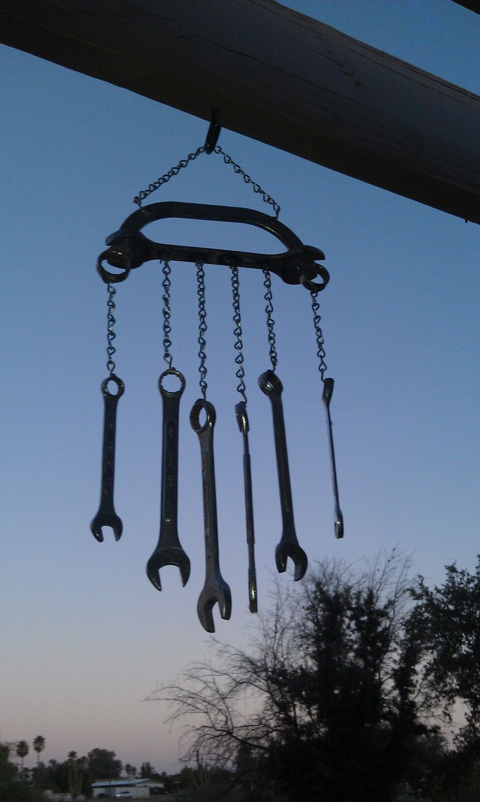 Charming wind chime made from vintage masher & old silverware ...