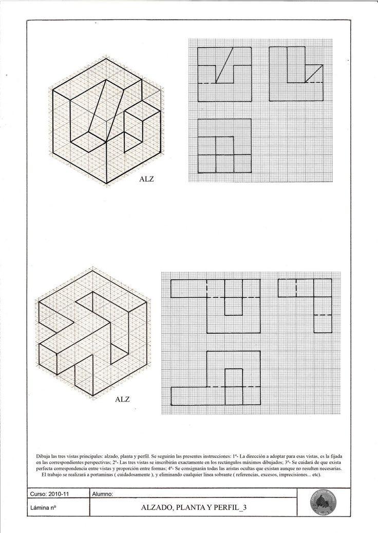 Resultado De Imagem Para Plantilla Isometrica De Puntos Ejercicios De Dibujo Tecnicas De Dibujo Vistas Dibujo Tecnico