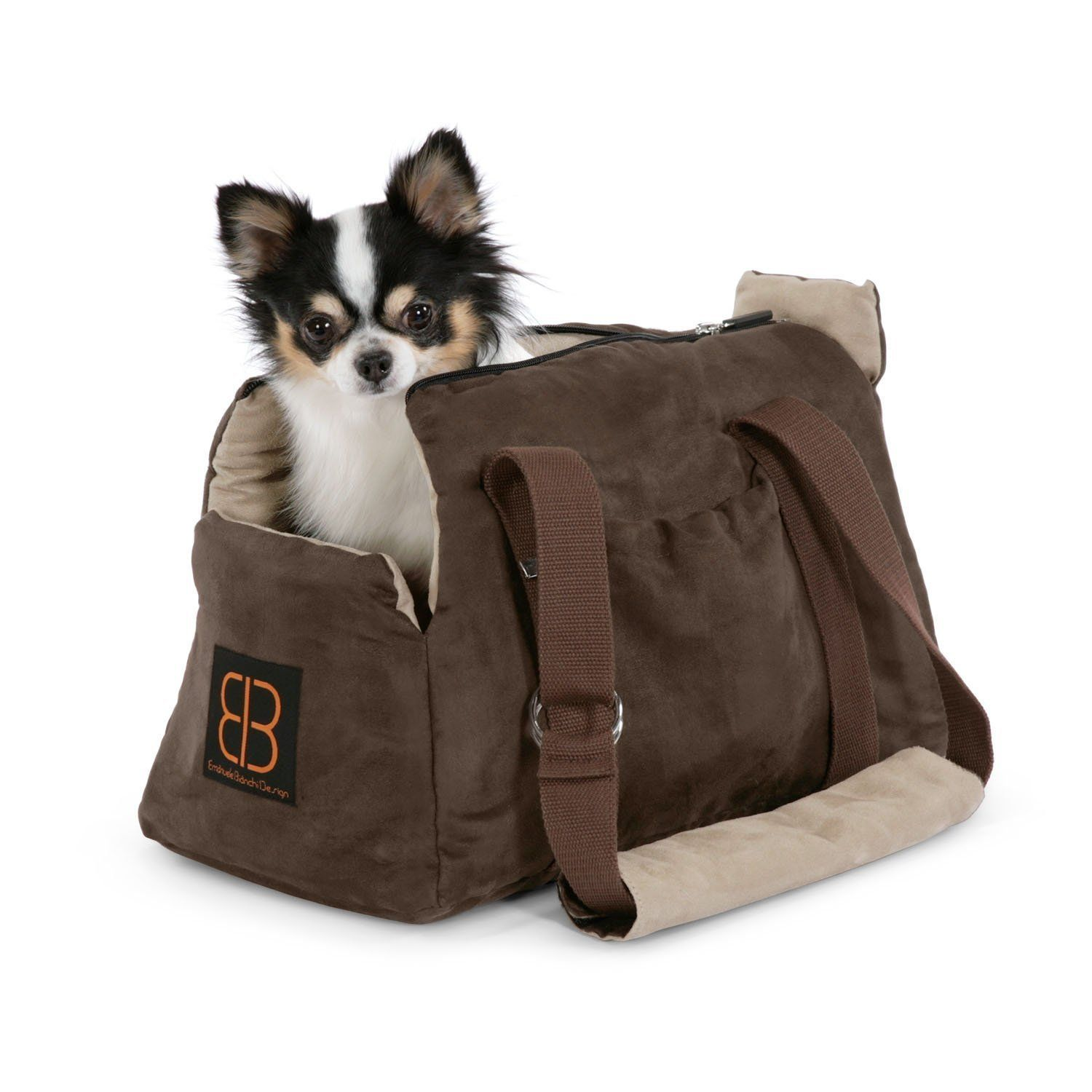 Pet Ego Velvet Bitty Bag Pet Carrier In Espresso Stone 16 L X 9 75 W X 10 75 H Small Read More Review Dog Carrier Bag Small Dog Carrier Pet Carrier Bag