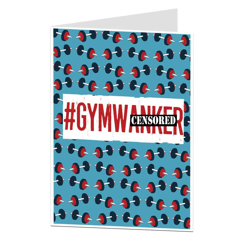 gbp funny rude gym birthday card menus boyfriend husband