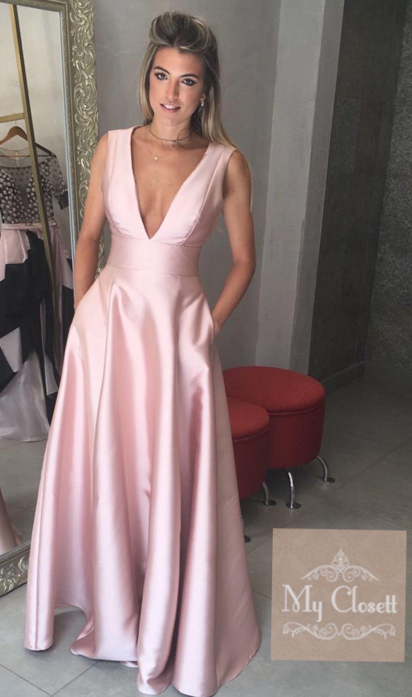Vestido de festa vestido madrinha alfaiataria vestido rose