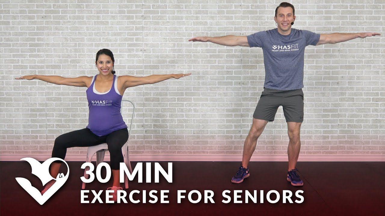 30 Min Exercise For Seniors Elderly Older People Seated Chair Exercise Senior Workout Routines Youtube Senior Fitness Workout Programs Workout Videos