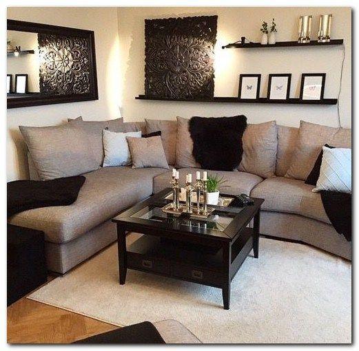 AuBergewohnlich Decorating Small Apartment Ideas On Budget (125). Hellbraunes  WohnzimmerEinfache ...