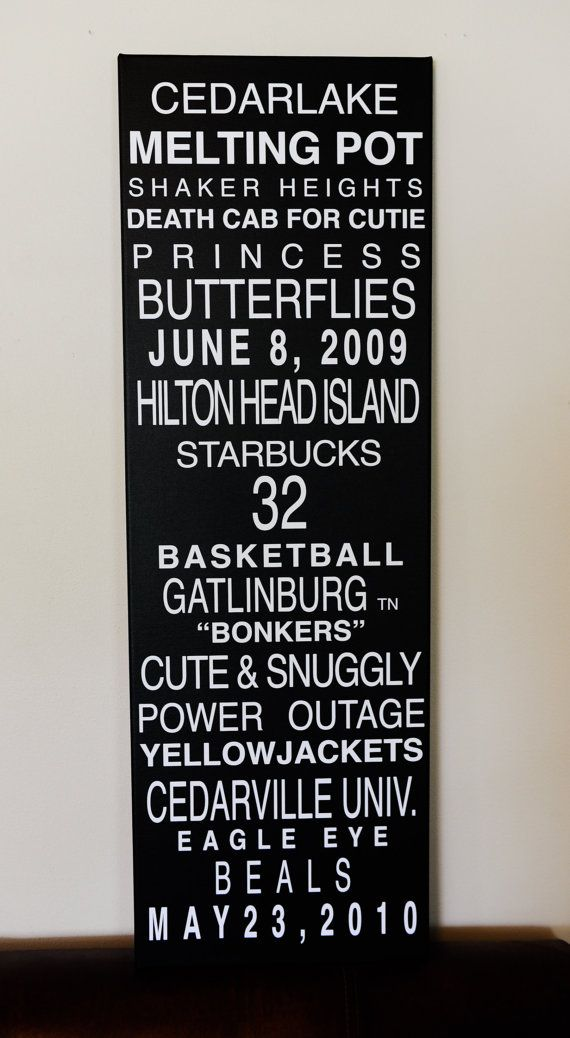CUSTOM CANVAS Subway Signs by kirbinkie on Etsy, $175.00