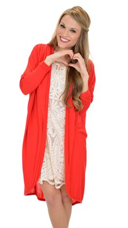 Fast Forward Cardi, Red :: NEW ARRIVALS :: The Blue Door Boutique