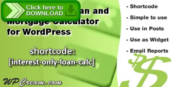 Free Nulled Interest Only LoanMortgage Calculator Download  Loan