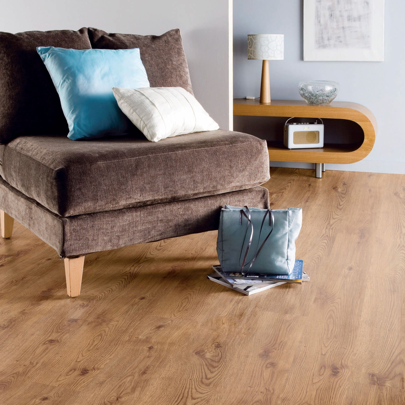 B Amp Q Country Oak Effect Glueless Laminate Flooring 2 5m 178