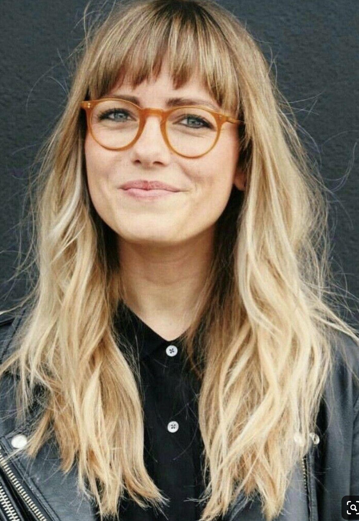 Pin Von Brittany Hobson Auf Frisur In 2020 Frisuren Lange Haare Brille Pony Frisur Brille Blonde Lange Haare Mit Pony