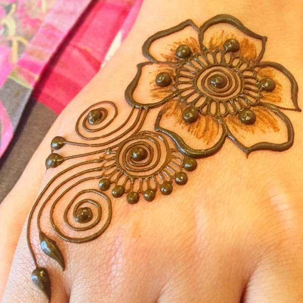 Simple Henna Mehndi Design For Beginners , Step by step
