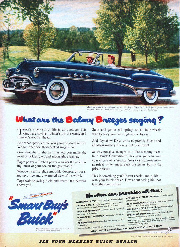 Buick Roadmaster Convertible Ad Classic Car Ads Pinterest - Nearest buick dealer