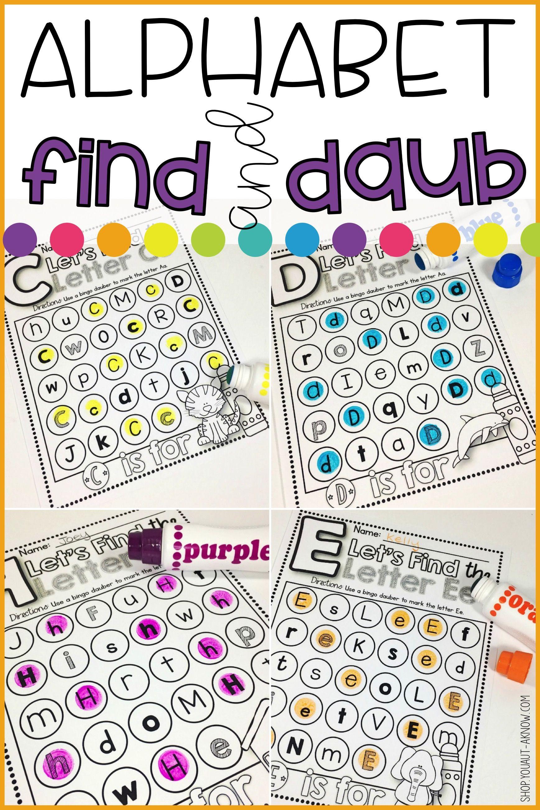 Alphabet Find And Daub