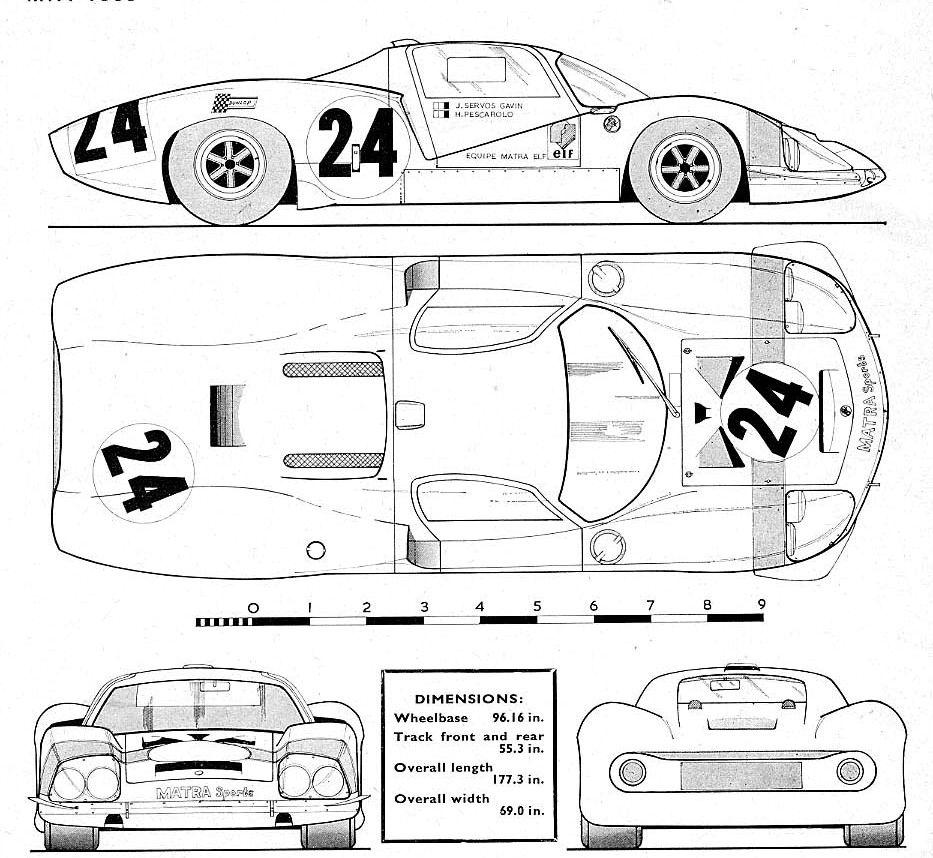 Matra MS 630 | Racing Car blueprint | Pinterest | Cars, Le mans and ...