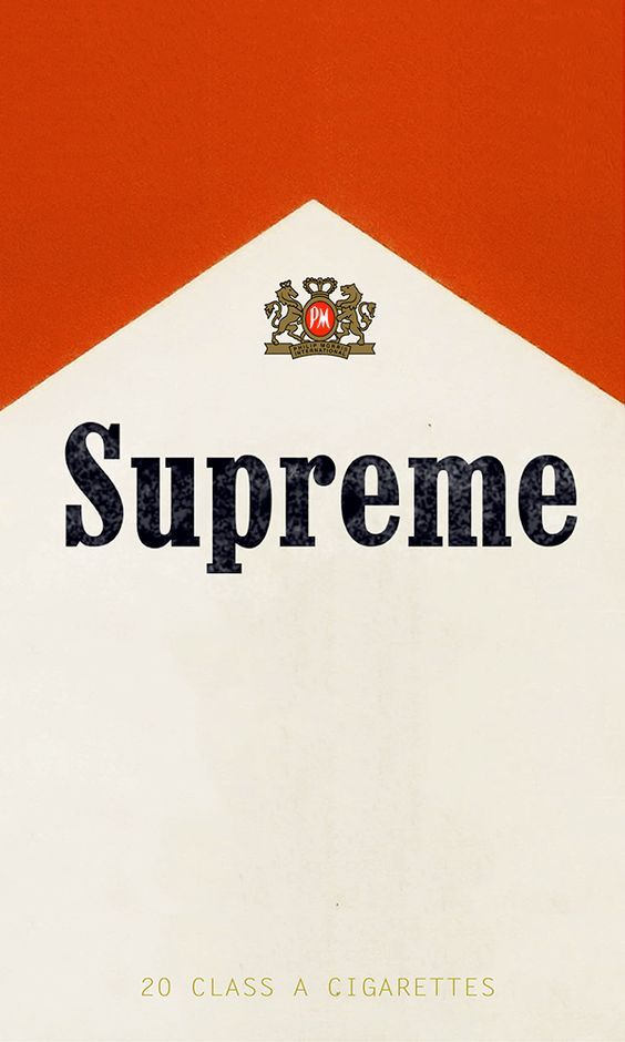 This Was Am Early Thing I Made For Fun Liked Both The Designs Of Supreme And Marlboro So Why Not Mix It Into A Wallpaper Thats What Did