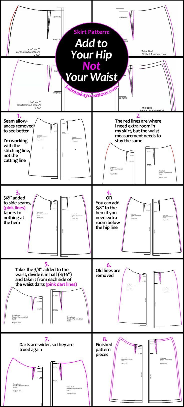 Photo of Skirt Pattern: Add to Your Hip, Not Your Waist – Katrina Kay Creations