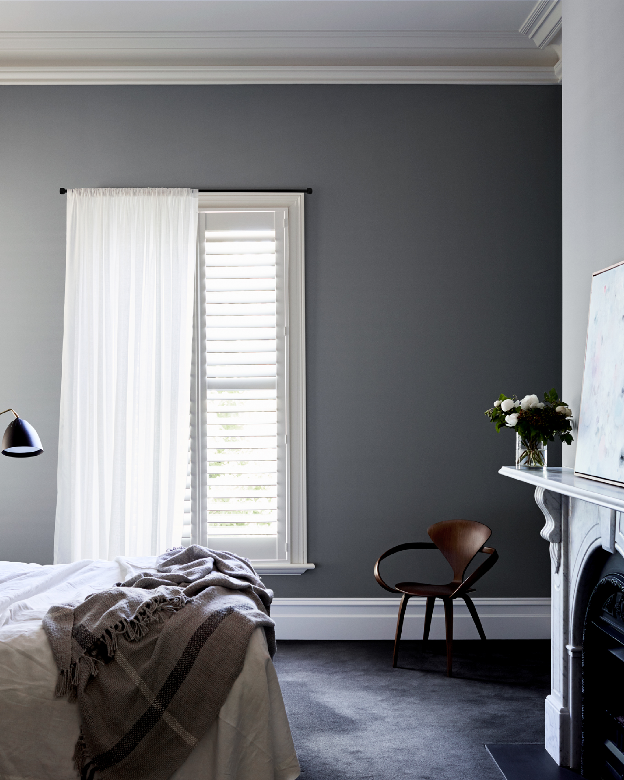 Dulux Bedroom Inspiration In 2020 Popular Grey Paint Colors Dulux Paint Colours Grey Feature Wall Bedroom