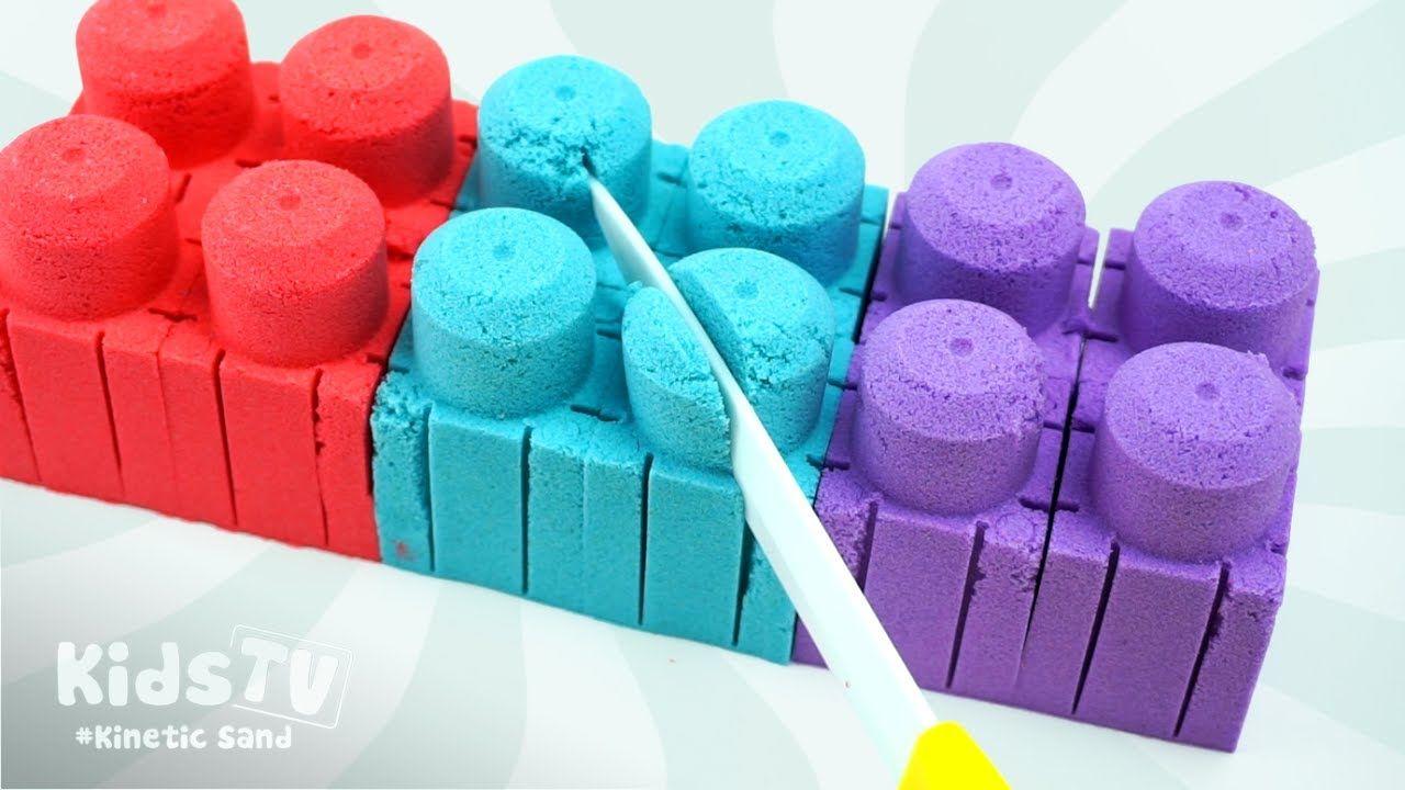 d057a654ccf DIY How to Make Colors Kinetic Sand LEGO Kids Blocks - Learn Colors Kine.