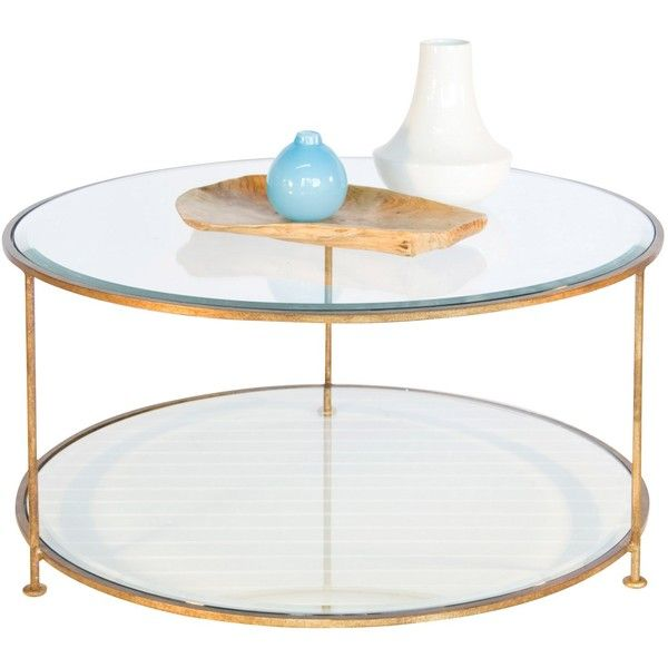 Worlds Away Rollo Round Gold Coffee Table ($1,745) ❤ liked on Polyvore
