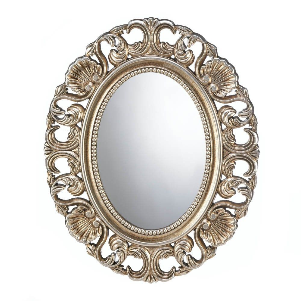 21 Oval Antiqued Gold Wall Mirror Baroque Style Home Decor Lustra