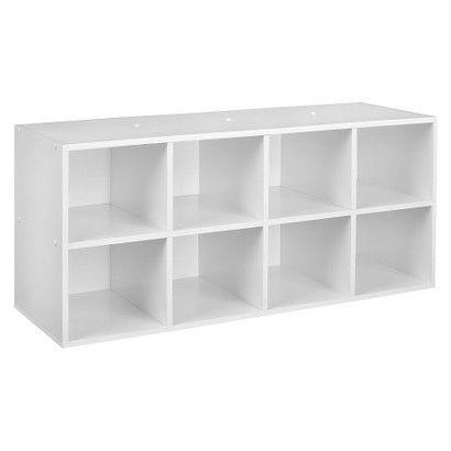 Attirant ClosetMaid 8 Compartment Shoe Organizer   White