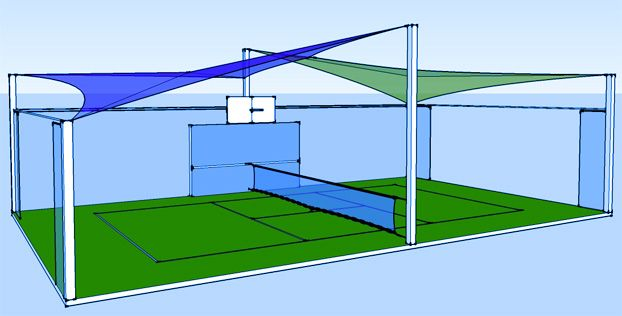 Mini Tennis Court Size Google Search Tennis Court Size Badminton Court Sports Clubs