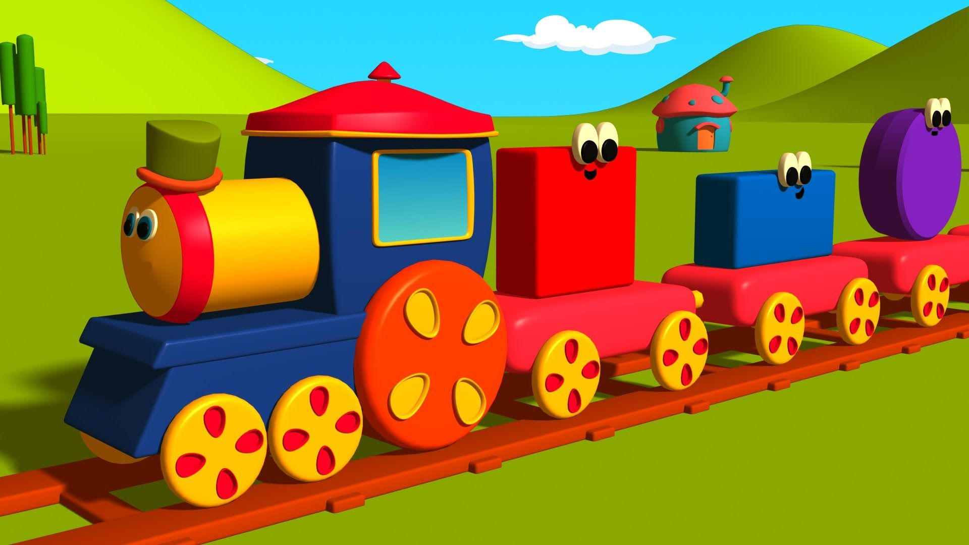 Bob The Train Has Been Built Using All These Shapes