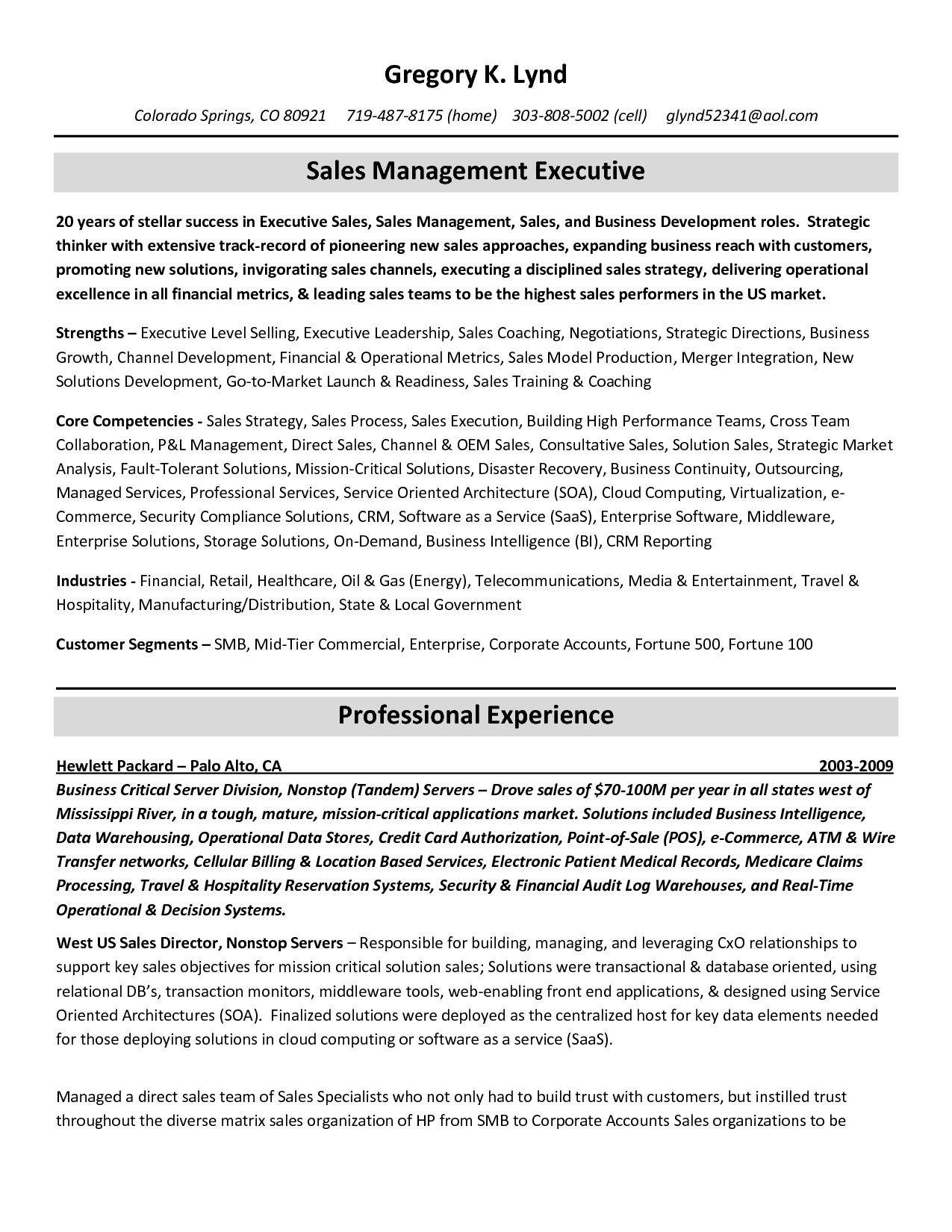 Resume Core Competencies