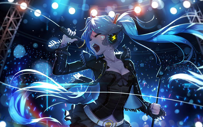 Download Wallpapers Vocaloid Concert Hatsune Miku Manga Besthqwallpapers Com Hatsune Miku Hatsune Anime