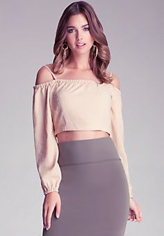 Strapped Crop Surplice Top