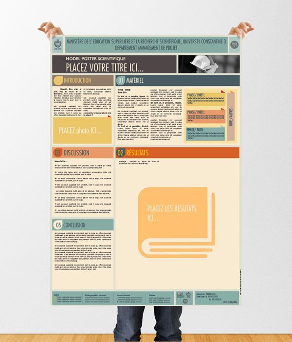 Scientific Poster Template Powerpointdle Poster Scientifique