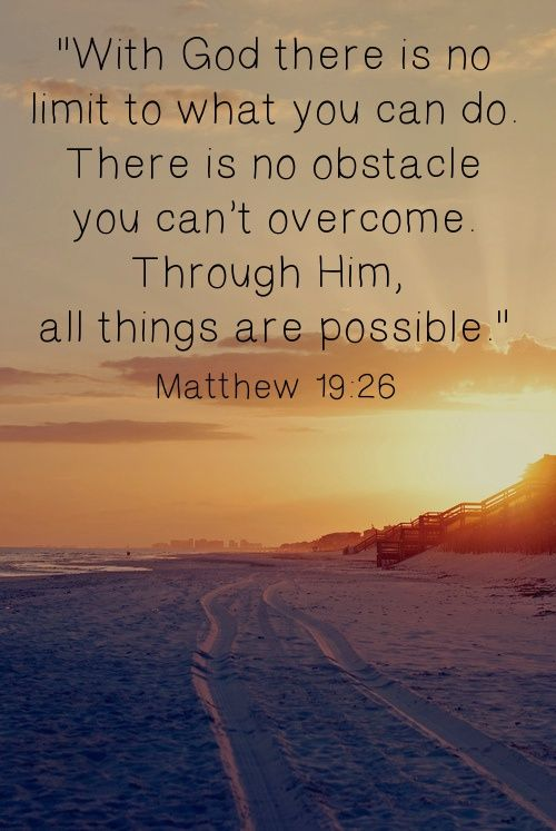 Thru God All Things Are Possible Matthew 1926 Bible Truth God