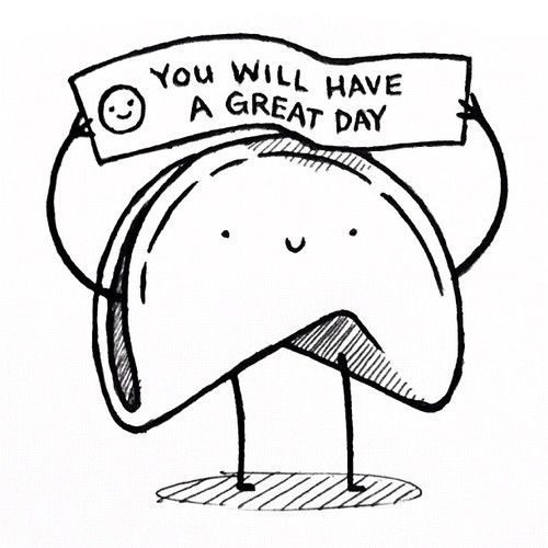 you will have a great day  random work doodle