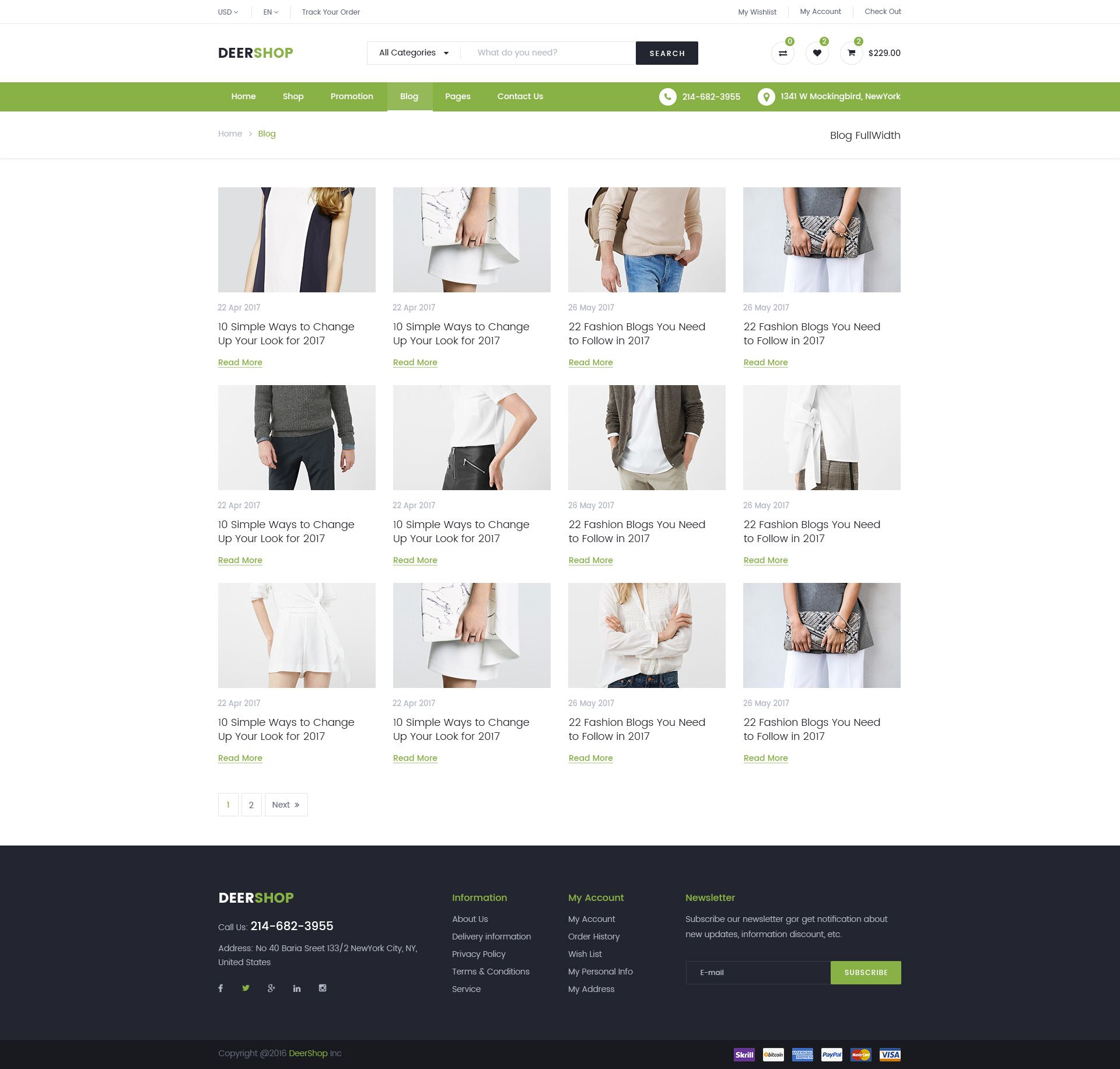 Minimal Responsive Website Template Psd For Free Download: DeerShop Multi-Purpose Responsive Ecommerce PSD Template