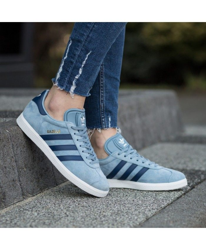 Adidas Gazelle Tactile Blue Unisex Trainers | Adidas outfit shoes ...