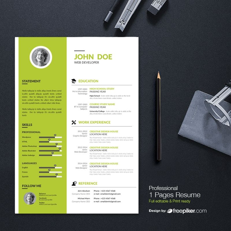Simple Resume Design Resumes Pinterest Simple resume, Logo - simple resume design