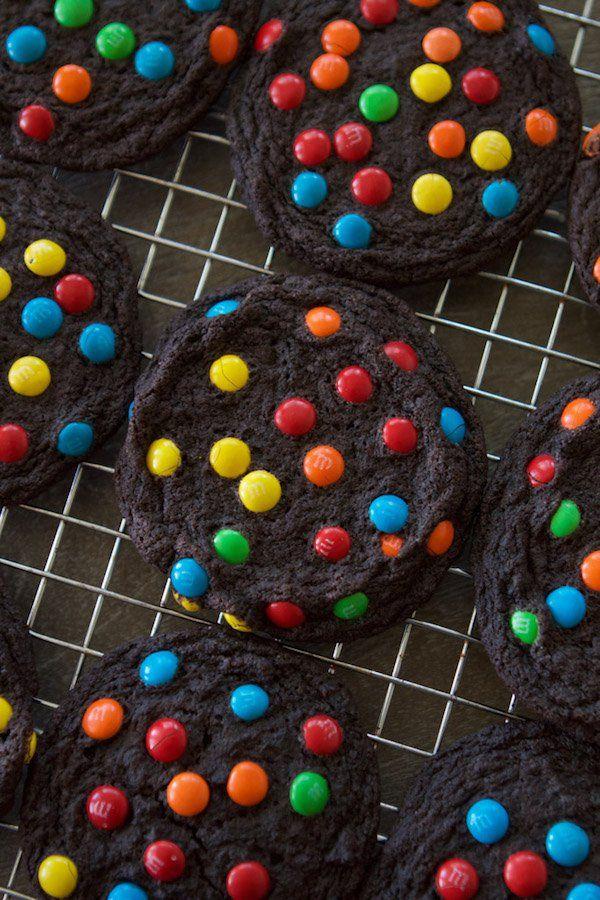 Double Chocolate M&M Cookies   Lauren's Latest