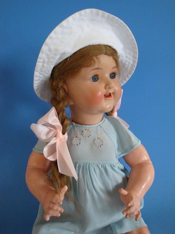 0211P1-014: Alte Masse Puppe in Antiquitäten & Kunst, Antikspielzeug, Puppen & Zubehör | eBay