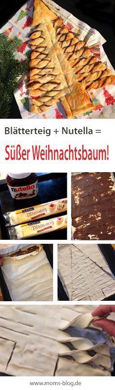 Für´s Weihnachtsbuffet: Der Nutella-Tannenbaum #recipeforpuffpastry