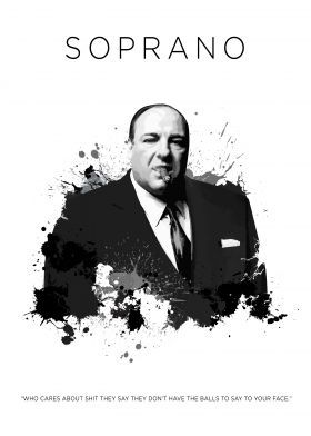 Tony Soprano Poster Art Print By Koo Concept Displate Tony Soprano Los Soprano Fotos
