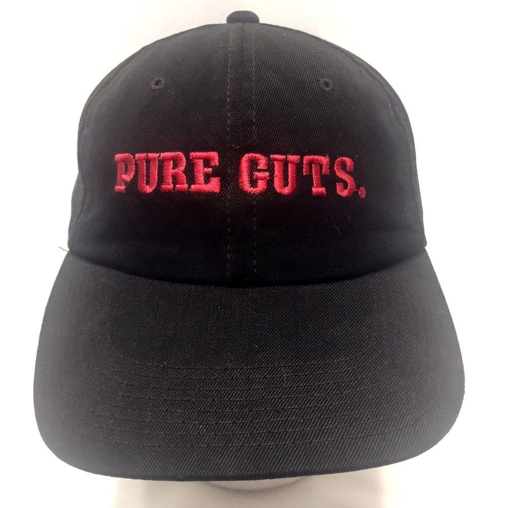 Pure Guts Athletic Embroidered Black Slideback Baseball Hat Cap Cotton Lunapier Baseballcap Baseball Hats Hats Pure Products