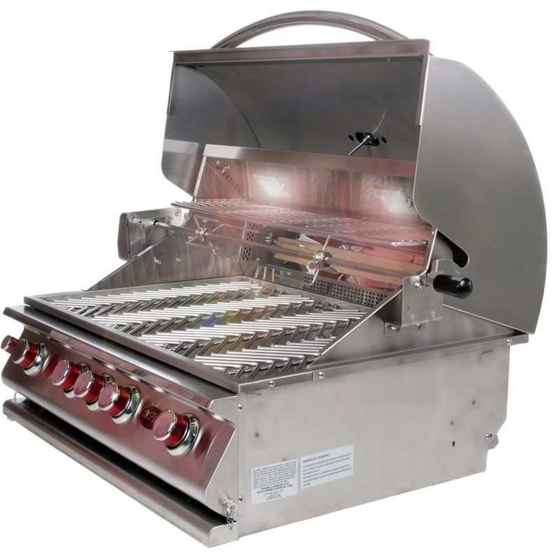 Cal Flame Built In 5 Burner Gas Convection Grill With 75 000 Btus