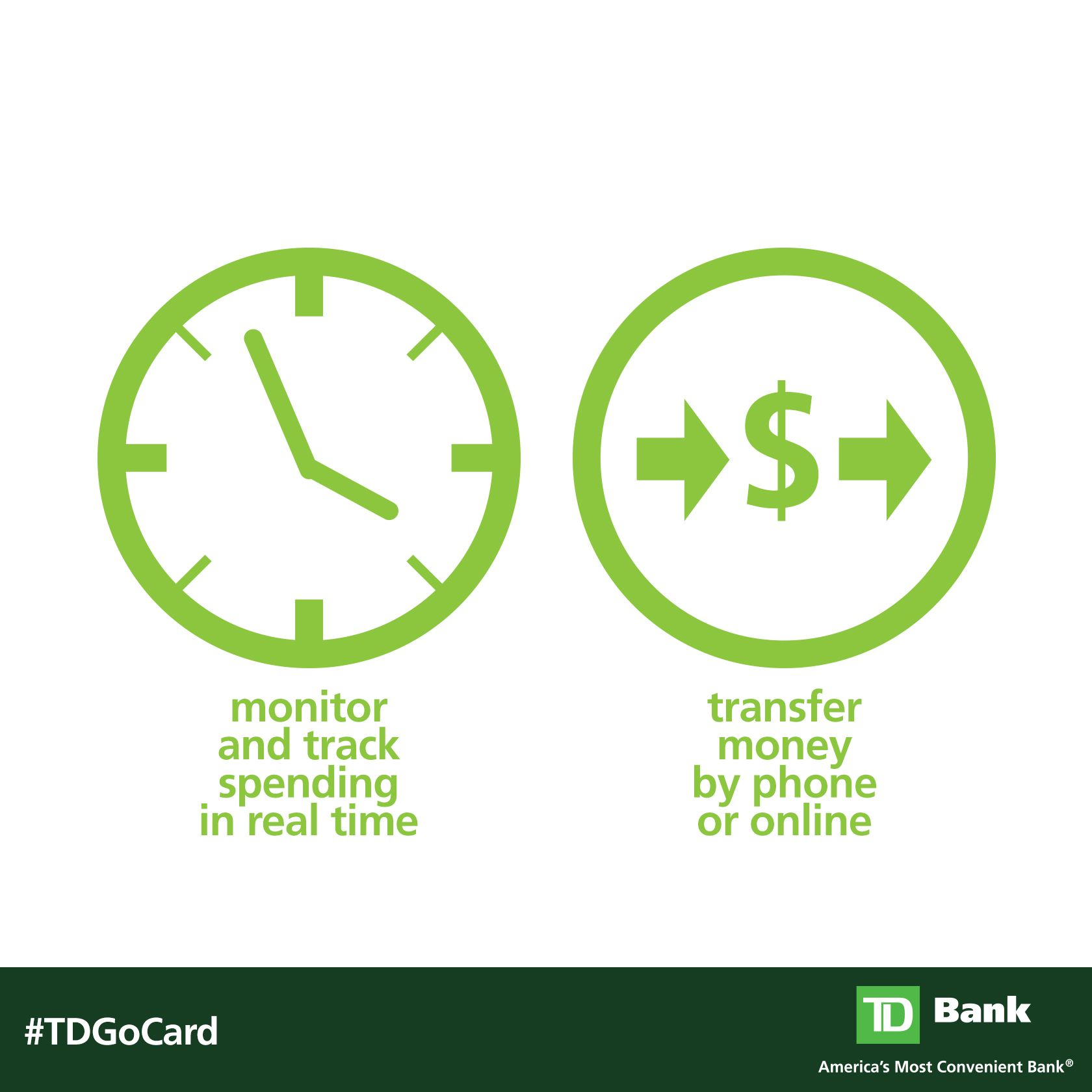 Give your teen freedom to spend responsibly with the TD Go Card