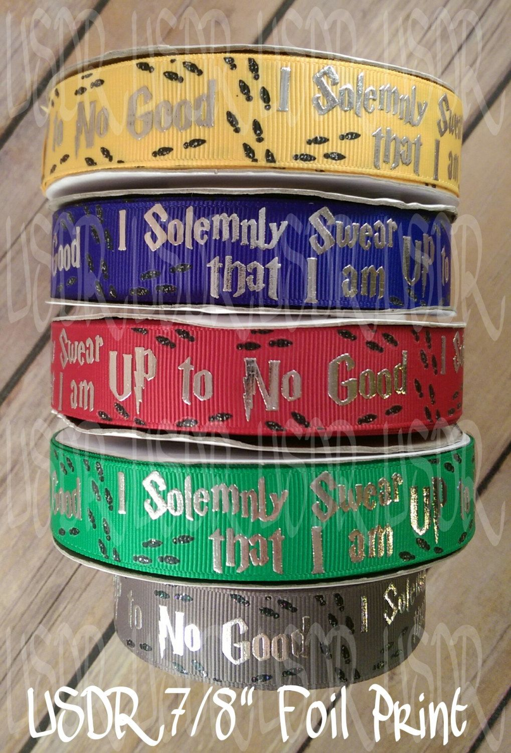 """Harry Potter White Grosgrain Ribbon 1/"""" By the yard NEW"""